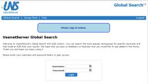 Usenetserver Global Search & NZB