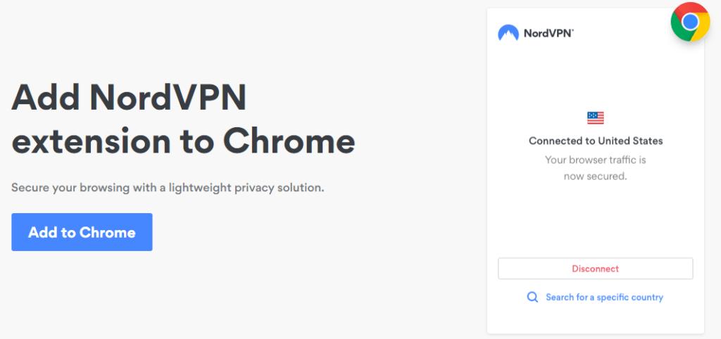 How do I use NordVPN with Chrome